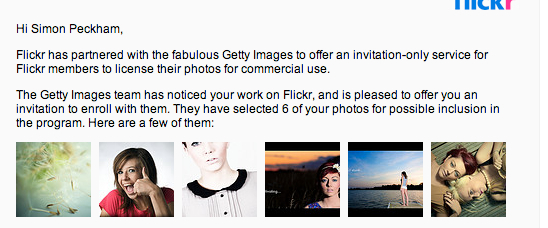 Getty invite ..... WOW great news