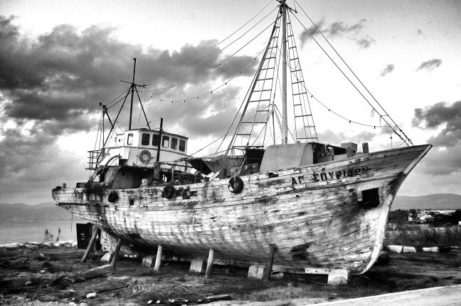 Abandoned fishing vessel Lachi Cyprus